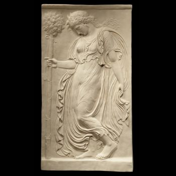 Greek Goddess (1 of 2) - Ancient Greek Marble Wall Relief Plaque