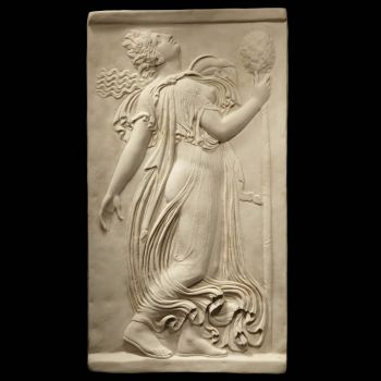 Greek Goddess (2 of 2) - Ancient Greek Marble Wall Relief Plaque