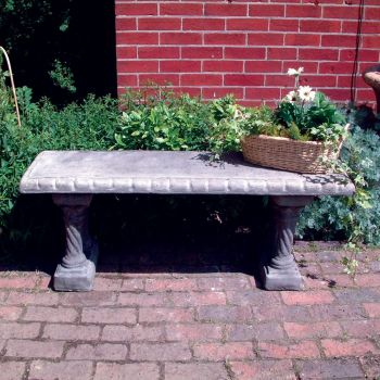 Straight Pattern Top Stone Bench - Large Garden Bench
