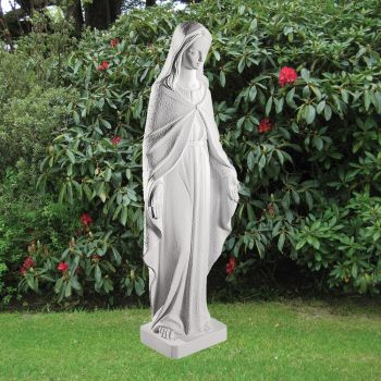 Virgin Mary 96cm Religious Sculpture - Marble Garden Statue