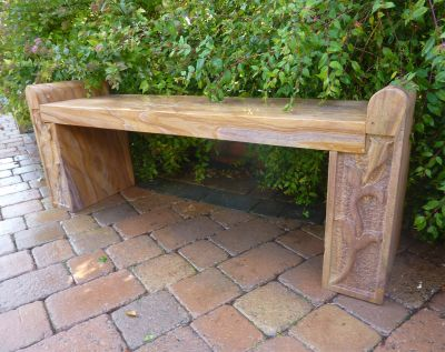 Arnage Polished Rainbow Sandstone Stone Bench - Large Garden Benches