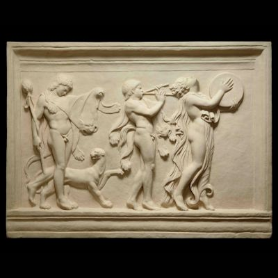 Bacchic Procession - Ancient Greek Marble Wall Relief Plaque