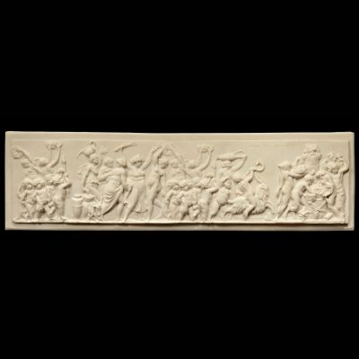 Bacchus Wine Festival - Ancient Greek Marble Wall Relief Plaque