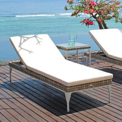 Brafta Rattan Sun Lounger Garden Furniture