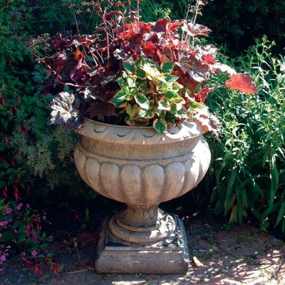 Buckingham Urn Stone Plant Pot - Large Garden Planter