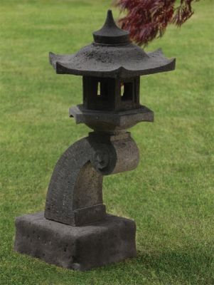Cantilever Japanese Pagoda Lantern - Large Chinese Garden Ornament