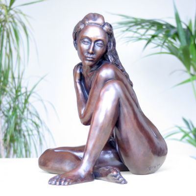 Caterina II Bronze Sculpture - Nude Female Modern Figurine