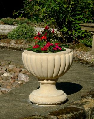 Clarence Stone Plant Urn - Large Garden Planter