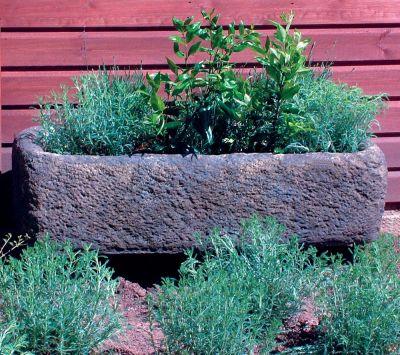 Country Stone Plant Trough - Large Garden Trough
