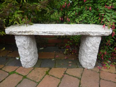 Galloway Natural Granite Beige Stone Bench - Large Garden Benches