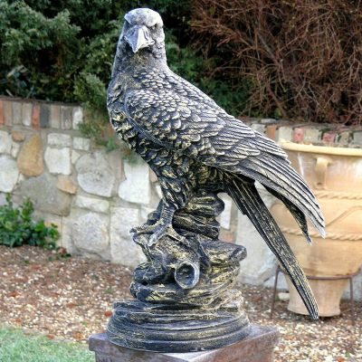 Golden Eagle Bronze Metal Garden Statue