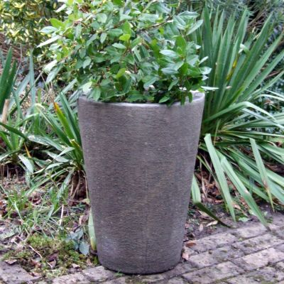 Grand Long Tom Vase Stone Plant Pot - Large Garden Planter