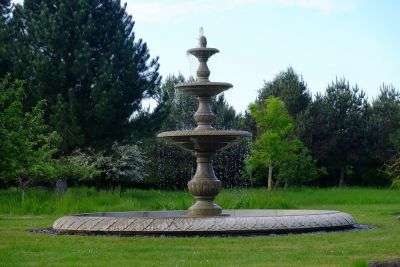 Grand Triple Tier 4m Sandstone Stone Water Fountain Feature