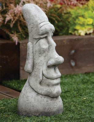 Grandad Head Sculpture - Large Easter Island Head Statue