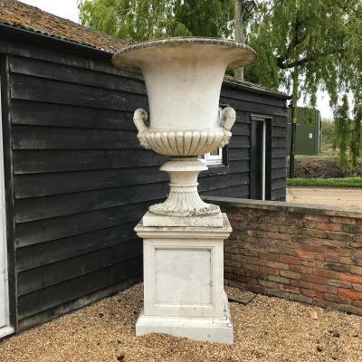 Grandeur Marble Urn 245cm Garden Planter & Pedestal