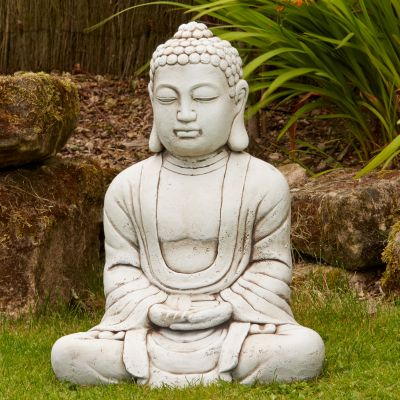 Hindu Stone Buddha Statue - Large Garden Ornament