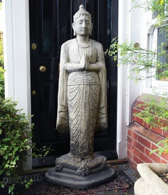 Large Garden Sculpture - Upright Stone Buddha Statue