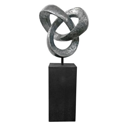 Large Karma Metal Garden Sculpture - Contemporary Art Statue