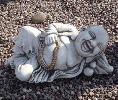 Laying Stone Buddha Statue - Large Garden Ornament
