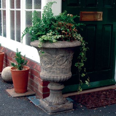 Medici Stone Vase Plant Pot - Large Garden Planter