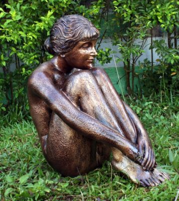 Melina 55cm Bronze Marble Resin Garden Statue