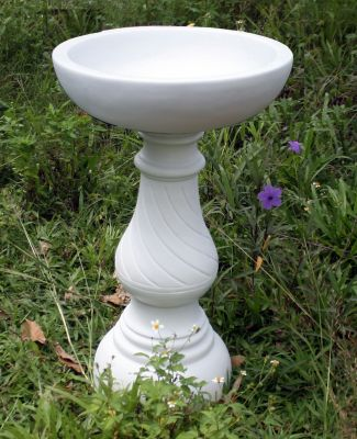 Buttermere Marble Resin Modern Garden Bird Bath