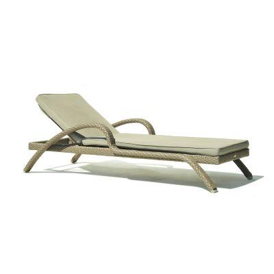 Pacific Rattan Sun Lounger Garden Furniture