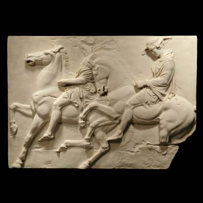 Pair of Riders Parthenon Marbles - Ancient Greek Wall Relief Plaque
