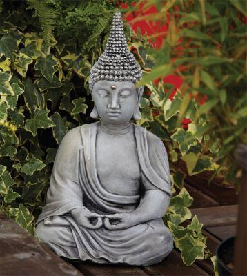 Pearl Hat Thai Stone Buddha Statue - Large Garden Ornament