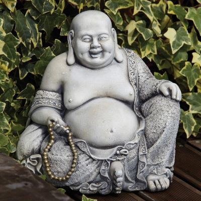 Pearl Stone Buddha Statue - Large Garden Ornament