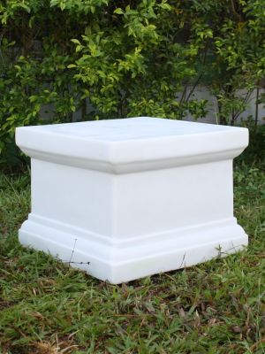 Plain 20cm Pedestal Column - Marble Resin Statue Plinth