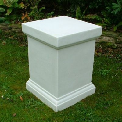 Plain 52cm Pedestal Column - Marble Resin Statue Plinth