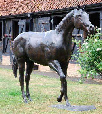 Race Horse Bronze Metal Garden Statue