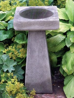 Simple Design Stone Birdbath Feeder - Garden Bird Bath