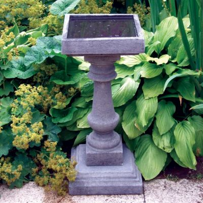 Small Baluster Stone Bird Bath - Garden Birdbath Feeder
