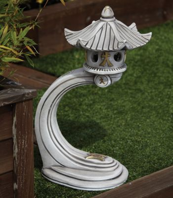 Small Curved Japanese Pagoda Lantern - Chinese Garden Ornament