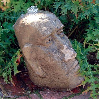 Small Moai Head Stone Fountain - Garden Water Feature