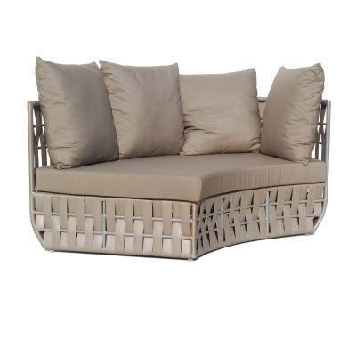 Strips Rattan Left Curve Sofa Garden Furniture