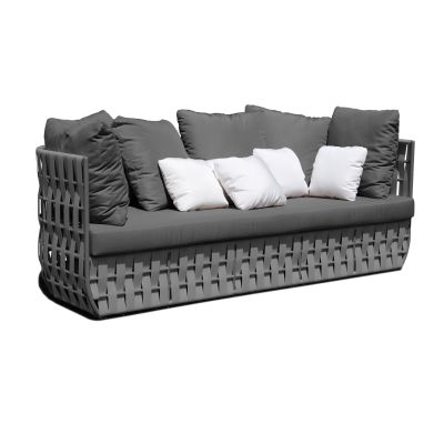 Strips Rattan Sofa Garden Furniture