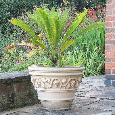 Tivoli Stone Plant Vase - Large Garden Planter