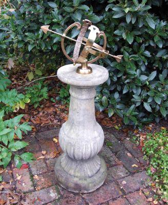 Victorian Armillary Stone Sun Dial - Garden Sundial