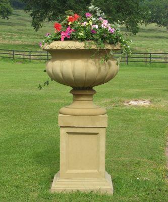 Victorian Stone Plant Tazza on Pedestal - Large Garden Planter