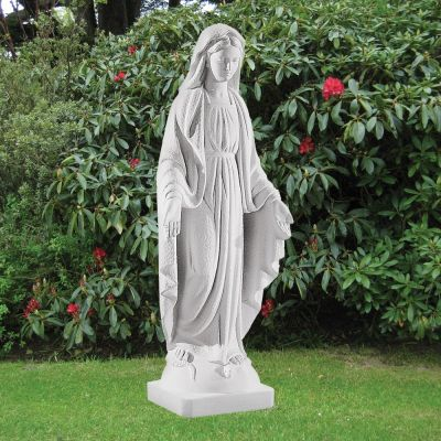 Virgin Mary 74cm Religious Sculpture - Marble Garden Statue
