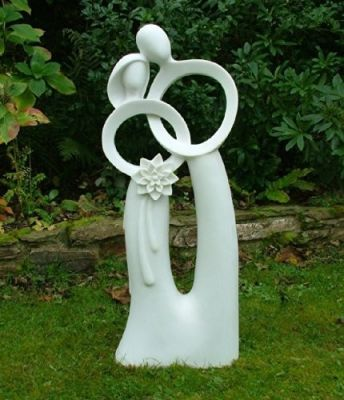 Wedding Bliss Modern Contemporary Sculpture - Large Garden Statue