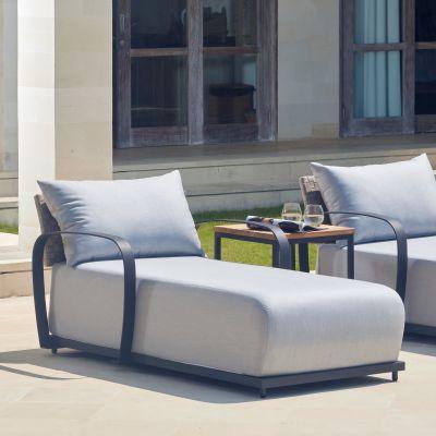 Windsor Rattan Chaise Lounge Garden Furniture