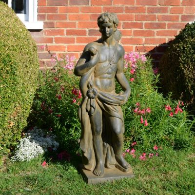 Apollo the Hunter 83cm Bronze Rust Stone Garden Statue
