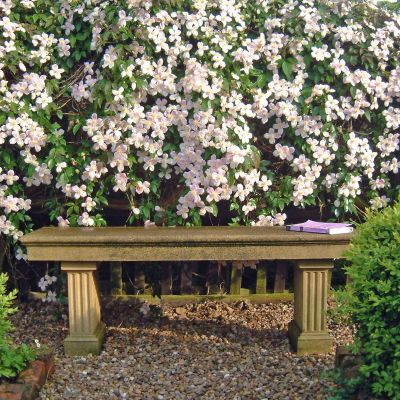 Heritage Single Straight Stone Bench - Large Garden Benches