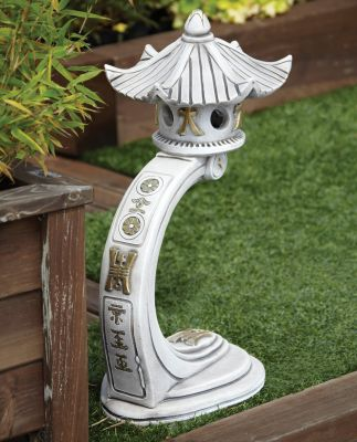 Medium Curved Japanese Pagoda Lantern - Chinese Garden Ornament