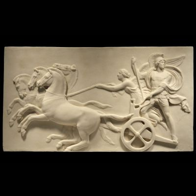 Roman Chariot Race - Ancient Rome Marble Wall Relief Plaque