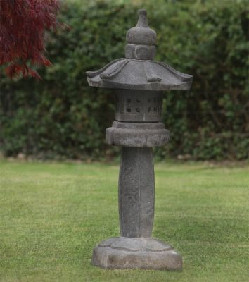 Straight Japanese Pagoda Lantern - Large Chinese Garden Ornament